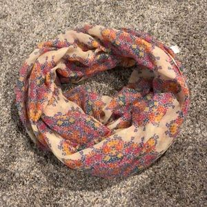 Floral patterned infinity scarf